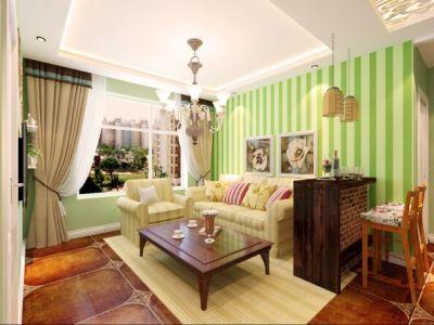 地中海风格-75.33平米二居室装修样板间