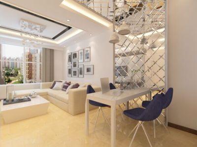现代简约-85平米二居室装修样板间