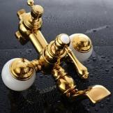 适意 欧式全铜仿古玉石淋浴套装