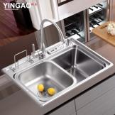 凯尼特 304不锈钢水槽 单槽加厚环保套餐