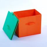空间大师 橙色牛津布整理盒 收纳衣物盒
