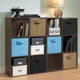 阁室美 木制十二格柜 储物收纳柜 置物整理架