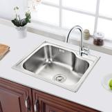 成霖高宝 不锈钢加厚水槽 厨房洗菜盆 单槽