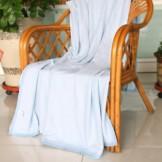 天源家纺竹纤维毛巾被 线毯空调毯 儿童盖毯毛巾被