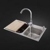 成霖高宝 不锈钢水槽套餐 厨房加厚双槽水槽