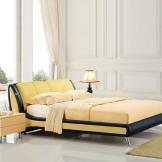 美神真皮床 1.5米1.8米软体床 简约现代婚床