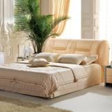 美神皮床 双人真皮床 1.8米1.5米简约软床