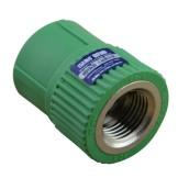 保利 绿色ppr热水管 内螺纹直接