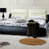 美神双人床真皮床 1.5-1.8米大床 简约现代婚床皮艺软床
