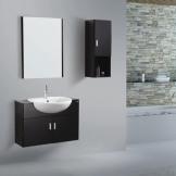 意中陶卫浴浴室柜 0.8米现代黑色实木浴室柜