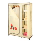空间大师布衣柜 双门小凸点印花简易布衣橱 整理衣柜