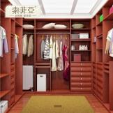 索菲亚红色衣帽间 新古典风格 定制整体衣柜