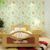 北台无纺布儿童房墙纸 卧室布置 卡通米奇款