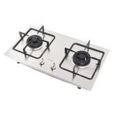 法迪欧 不锈钢嵌入式燃气灶 天然气双眼灶