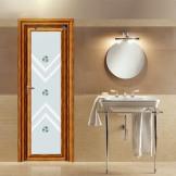 爱迩美卫生间铝合金门 厨房门室内门 防水玻璃门