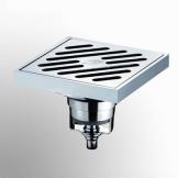 返必克亚光 大流量全铜 淋浴卫生间 防反水防溢防臭地漏