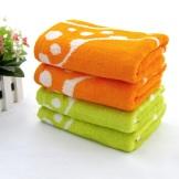 天源婴儿面巾 竹纤维毛巾 儿童吸汗毛巾 两条装