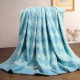 金号纯棉毛巾被 菱形方格 无捻柔软加厚毛巾毯