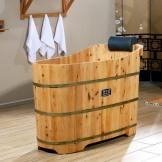 雅仕嘉泡澡洗澡桶 香柏木熏蒸桶 木质浴缸