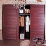索菲亚整体衣柜定制 简欧家具 木质移门衣帽间