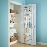 阁室美 置物架 大容量可调式门墙 两用置物架