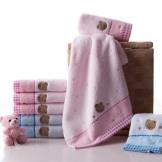 金号纯棉毛巾 卡通可爱吸水毛巾 面巾四条装
