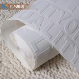 北台服装店墙纸 超厚立体浮雕 白色时尚英文字母