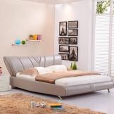 美神皮艺床 1.8米真皮软床 单人双人 定制