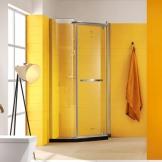 爱谱乐 304不锈钢淋浴房 钻石型钢化玻璃隔断