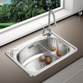凯尼特 304不锈钢厨房水槽 小单槽加厚
