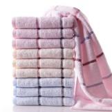 金号毛巾 纯棉舒适毛巾10条装 简约提缎全棉面巾