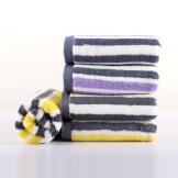 天源竹纤维毛巾 条纹彩条毛巾 干发毛巾