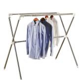 空间大师晾衣架 X型落地折叠式晒衣架