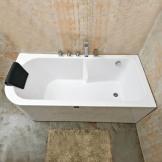 英士利按摩浴缸 有机玻璃一体式浴缸 双裙边浴缸 连体