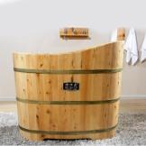 雅仕嘉无盖木桶 单人泡澡浴缸 香柏木洗澡桶
