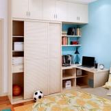索菲亚衣柜 卧室套房家具 整体衣柜床床头柜转角书桌组合