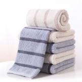 金号 高低毛格纹纯棉毛巾4条装 情侣家庭款面巾