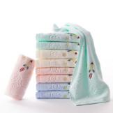 金号 纯棉小毛巾9条装 卡通可爱柔软割绒面巾