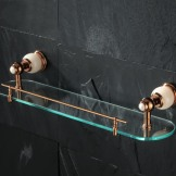 适意 欧式单层玻璃台置物架