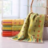 金号 纯棉毛巾三色组合装 活泼音符面巾