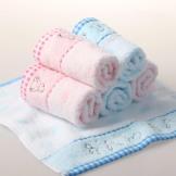 金号方巾 卡通绣花毛巾 纯棉方巾/童巾/小毛巾