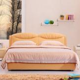 美神 现代简约皮床 单双人软床 婚床1.8米