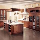 柏厨整体橱柜定制 纯实木板U形延米整体厨柜 台伯河