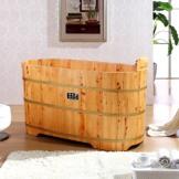 雅仕嘉 香柏木桶 木质浴缸 单人实木泡澡桶