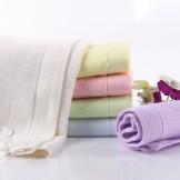 天源 竹纤维大方巾 加厚全竹儿童方巾 婴儿毛巾