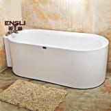 英士利一体式浴缸 双裙边按摩浴缸 连体无接缝冲浪浴缸