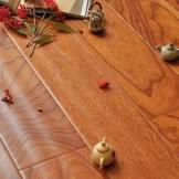 大自然地热地板 多层实木复合地板 榆木手刮仿古