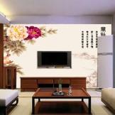 蒙娜丽莎 瓷砖背景墙 客厅电视背景墙瓷砖 赏牡丹