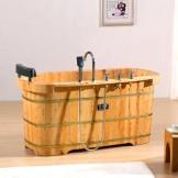 雅仕嘉 成人沐浴桶 泡澡浴盆 实木洗澡木桶
