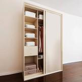 索菲亚 C2银框竖纹平板拼黑镜腰带二门趟门衣柜